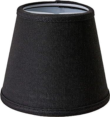 Better & Best 0205124–écran de lampe de coton, avec pince de fixation pour ampoules type bougie, de 12cm, lisse, couleur noir