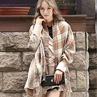 Schal Frauen Winter Warm Plaid Schals Frauen Schals Und Wraps Lange Quaste Weibliche Foulard Decke Schal