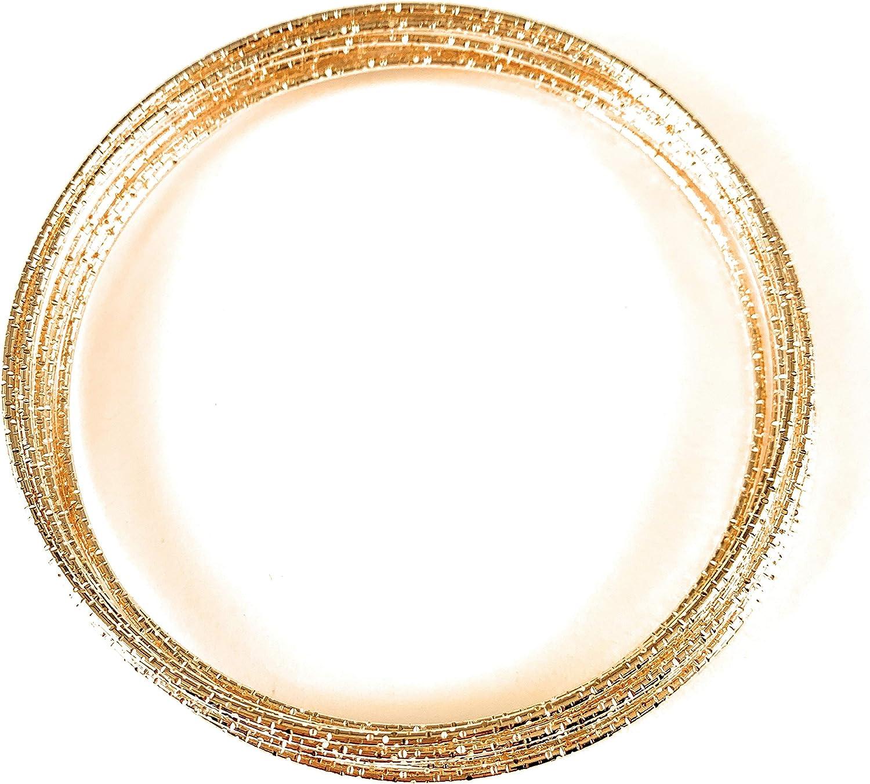 Gold Bracelet Set Pack 10 Metal Thin Skinny Narrow Stack Stackable Bangle Textured Thin Bangle Bracelets