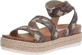 Steve Madden Women's Platform Sandal Wedge, Camoflage, 7