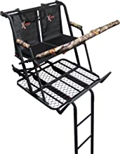 X-Stand Treestands The Jayhawk Ladderstand The Jayhawk 20' Two-Person Ladderstand Hunting Tree Stand, Black