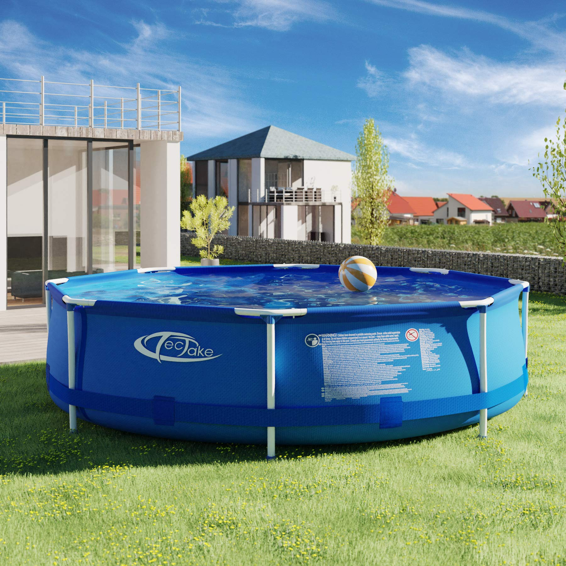 TecTake 800580 Piscina Desmontable, Swimming Pool, Tejido de PVC ...