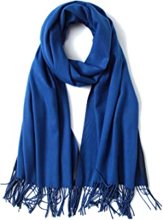 FORTREE Cashmere Feel Scarf - Lightweight Scarfs for Women, Large Soft 2 Tone Shawls and Wraps (9 Colors Available)