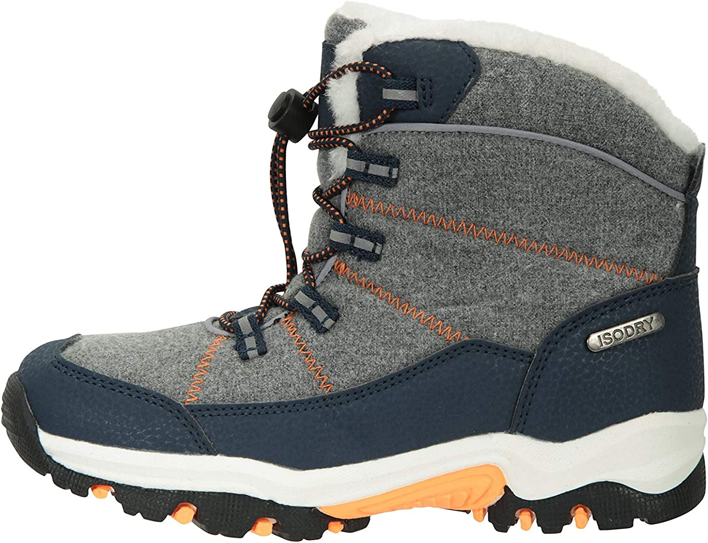 Mountain Warehouse Comet Kids Waterproof Snowboots Warm Winter Shoes