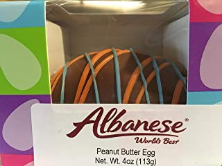 Albanese Chocolate Covered Peanut Butter Decorated Egg in Gift Box