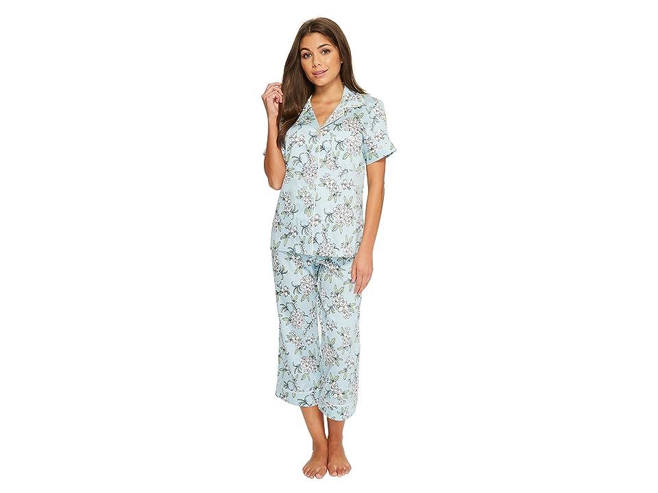 BedHead Short Sleeve Cropped Pants Pajama Set (Lily Garden) Women