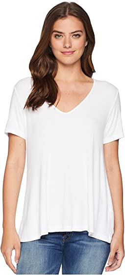 2X1 Rib Short Sleeve V-Neck Swing Tee