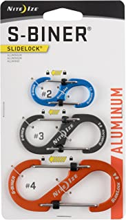 featured product Nite Ize LSBA234-A1-R6 S-Biner SlideLock Aluminum Combo 3 Pack Assorted, One Size, Piece
