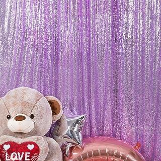 JYFLZQ Pailletten Hintergrundvorhang mit Lavendel Pailletten, 120 x 220 cm, 1 Panel, glitzernder Hintergrund für Fotoautomaten, Geburtstag, Hochzeit, Party