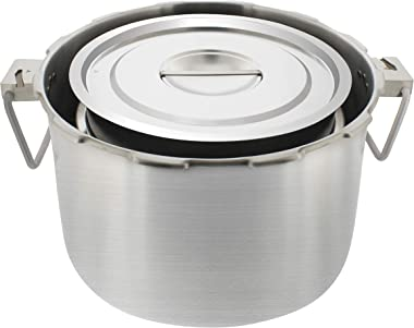 Buffalo Steam Pot in pot cooking with Lid set of 4 pieces for QCP435 37-quart Buffalo pressure cooker [Commercial series]