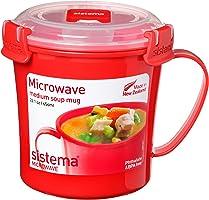 Sistema Microwave Soup Mug, 656 ml - Red