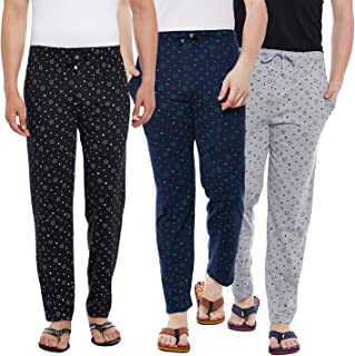 VIMAL JONNEY Cotton Multicolor Trackpants for Men(Pack of 3) (D1PRT-1B1M1N_003-P)