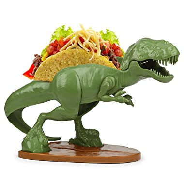 Funwares, T-Rex Dinosaur Taco Stand Holds 2 Tacos, Top Rated Novelty Taco Holder