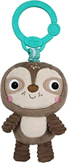 Bright Starts Take 'n Shake On-The-Go Take-Along Toy - Sloth, Ages Newborn +