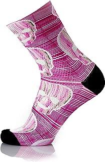 MB WEAR, Socks Fun Pink Skull L/XL, Rosa, Medio Unisex Adulto