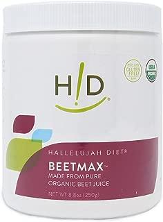 Hallelujah Diet Organic BeetMax - Beet Juice Powder 8.8 oz (62 Servings)