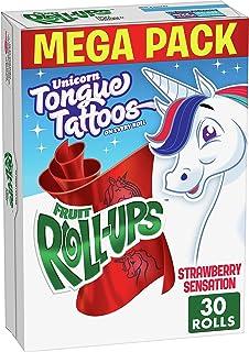 Betty Crocker Fruit Snacks, Fruit Roll-Ups, Strawberry Sensation, 15 oz (Packaging may vary)