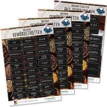 54547 AVERY Zweckform Gew/ürzaufkleber 48 St/ück Gew/ürzbeschriftung Sticker auf A5 Bogen, Etiketten f/ür K/üche, Gew/ürze, Gew/ürzregal, Klebeetiketten /ölabweisend abwischbar wasserfest