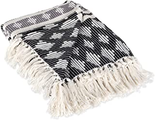DII Classic Colby Southwest Cotton Handwoven Stripe Blanket Throw with Fringe For Chair, Couch Picnic, BBQ, Camping, Beach...
