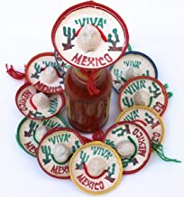 2 Pk One Dozen Pk Mexico Party Favors - Tiny Sombrero Hats Mini for bottles Mexican decorations Viva hat mexicanos for Fiesta Straw decoraciones-cupcake toppers Cinco de Mayo Supplies