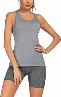 COOrun Womens Yoga Workout Outfits 2 Pieces Athletic Clothing SetsTank Tops and Yoga Shorts