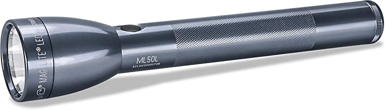 Maglite 3 C-Cell Multi-Mode Switch LED Flashlight with Adjustable Beam, Grey