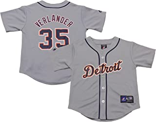 Justin Verlander Detroit Tigers #35 Gray Youth Authentic Road Replica Jersey