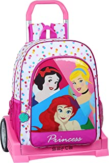 Mochila Safta 180 Espalda Ergonómica con Carro Safta Evolution de Disney Princess