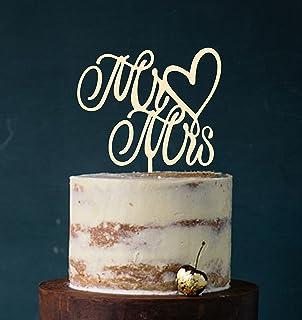 Cake Topper, Mr & Mrs, Tortenstecker, Tortefigur Acryl, Tortenständer Etagere Hochzeit Hochzeitstorte Kuchenaufstecker Elfenbein Art.Nr. 5131