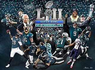 purenet Philadelphia City Eagle Super Bowl Champions on Canvas … (20X27)