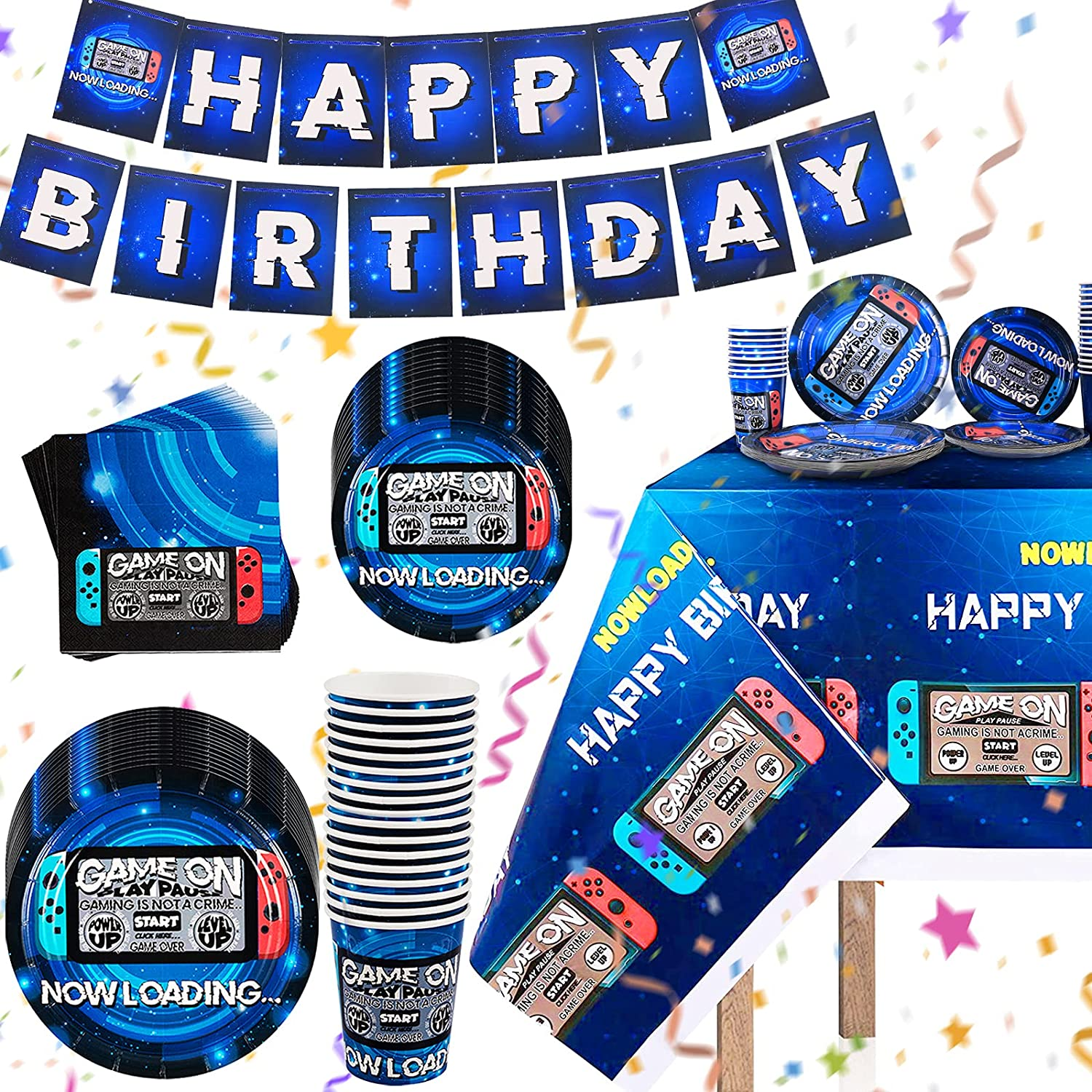 Buy Video Game Party Supplies for Decorations Includes Video Game ...