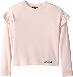 French Terry Ruffle Sweatshirt (Big Kids)