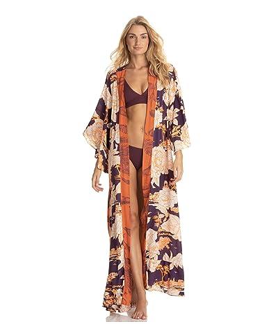 Maaji Stage of Dreams Kimono Cover-Up (Brown) Women