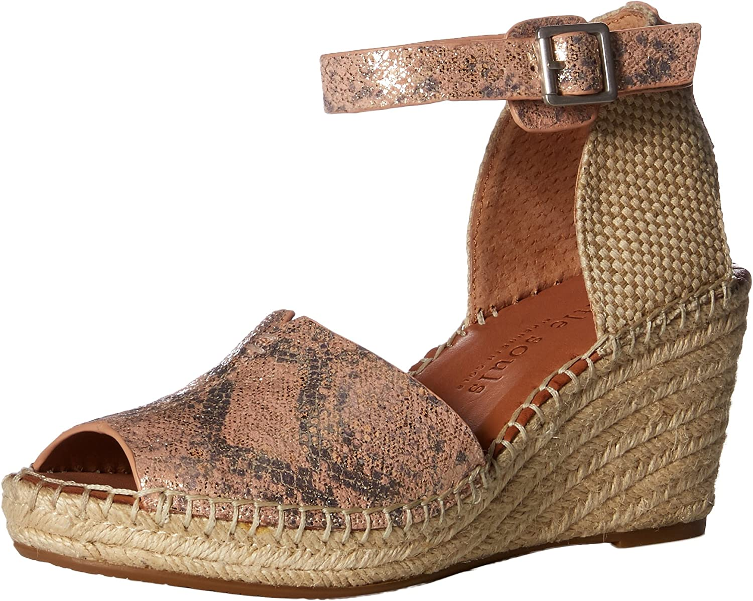 Gentle Souls by Kenneth Cole Women's Charli Espadrille Wedge Sandal Sandal