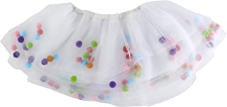 Stephan Baby My First Tutu Available in 5 Styles, Tulle with Floating Pom-Poms, Fits 6-12 Months