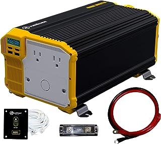 Krieger 4000 Watts Power Inverter 12V to 110V, Modified Sine Wave Car Inverter, Dual 110 Volt AC Outlets, Hardwire Kit, DC...