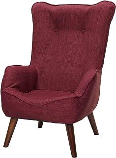 ドウシシャ 高座椅子 1人掛けソファー なごみハイバックチェア 肘付き 座椅子 コンパクト収納可 レッド NHBC-RD