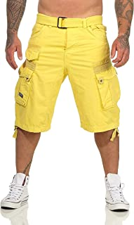 Geographical Norway PANORAMIQUE Men - Bermuda Homme Casual Coton - Short Hommes Sport Cargo - Bermudas Respirant Chino - S...
