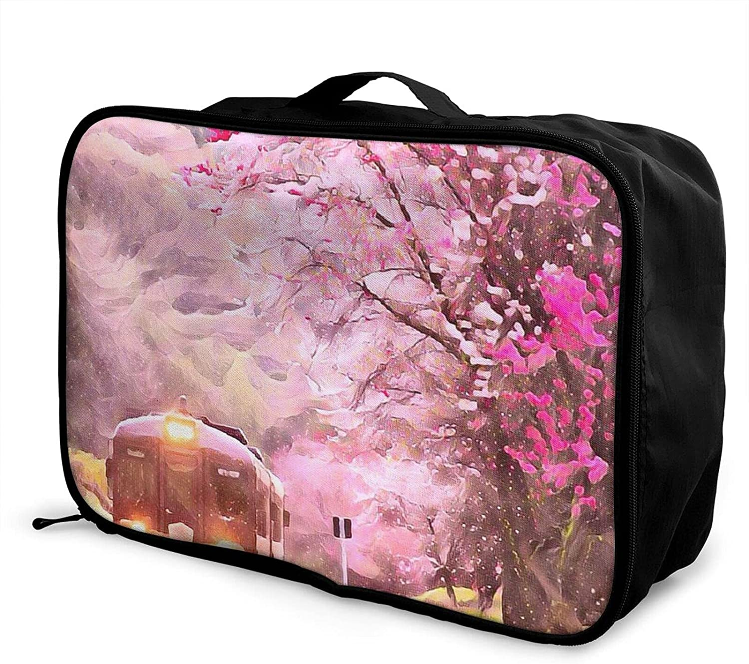 Foldable Travel Bag Tote 5% OFF Japanese Cherry Our shop OFFers the best service Pink T Carry-On Blossom