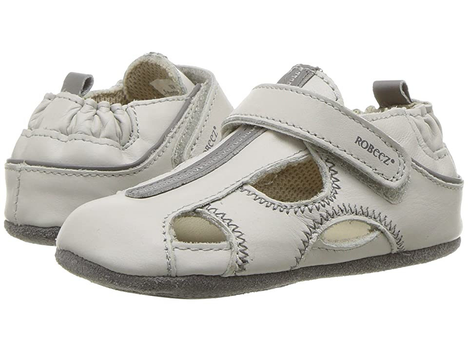 Robeez Rugged Rob Mini Shoez (Infant/Toddler) (Light Grey) Boys Shoes
