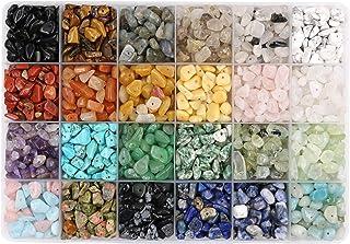 N/ A Potosala 24 Couleurs Perles de Puce de Pierres précieuses Naturelles pièces de Cristal concassées irrégulières 5-7mm ...