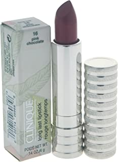 Clinique Long Last Lipstick, No. 16 Pink Chocolate, 0.14 Ounce