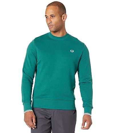 Fred Perry Crew Neck Sweatshirt (Light Petrol) Men