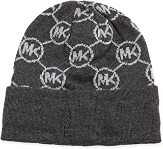 Michael Kors Dark Brown Signature Knit Beanie