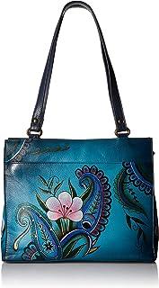Women's Genuine Leather Flap-Over Medium Shoulder Bag | Chic & Stylish Organizer