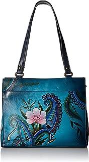 Anna by Anuschka Women's Genuine Leather Flap-Over Medium Shoulder Bag | Chic & Stylish Organizer