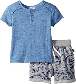Splendid Littles Henley Set w/ All Over Print Shorts (Infant)