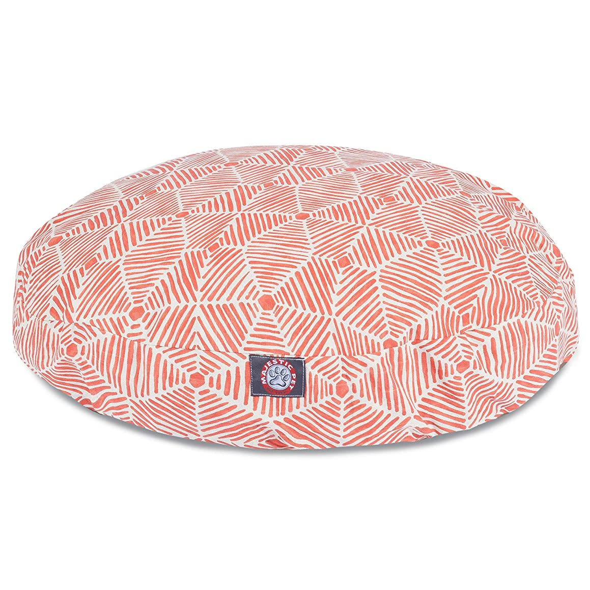 Majestic Pet Charlie Salmon Large Round Pet Bed