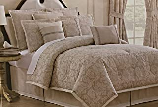 Veratex Queen Size Luxuriously Elegant 4 Piece Comforter Set with Tailored Bed Skirt