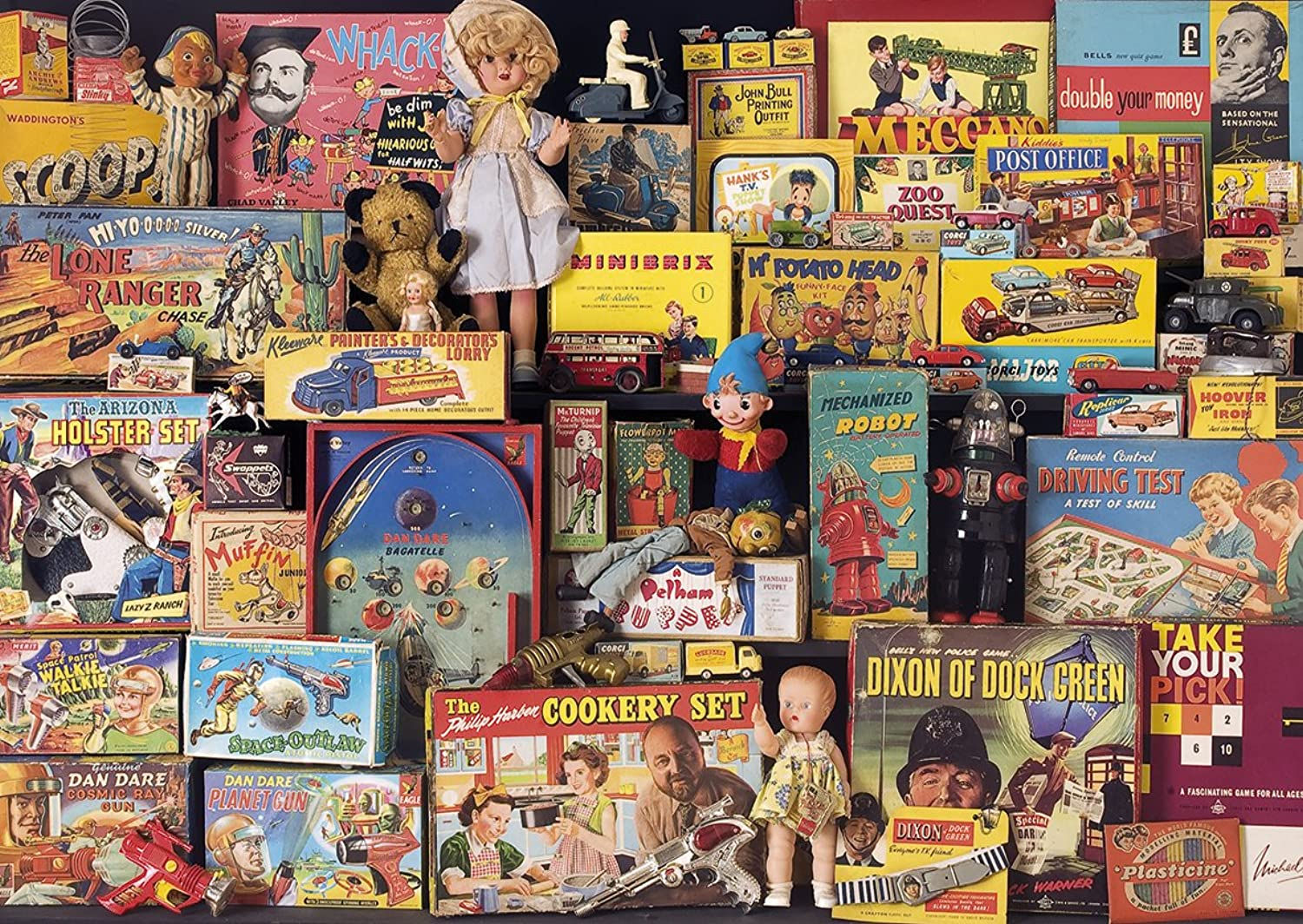 Gibsons 1950s Toy Box Memories Jigsaw Puzzle (1000pieces)